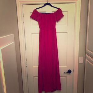 Lovers + friends red long dress